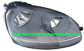VW GOLF V AÑO 2003 - FAROS CON INTERIOR COLOR CENIZA AMBOS LADOS